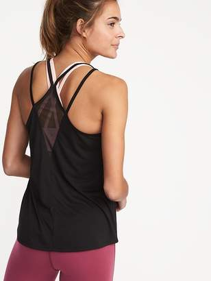Old Navy Semi-Fitted Strappy Mesh-Back Tank for Women