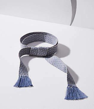 LOFT Diamond Fringe Tie Belt