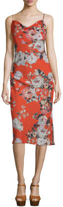 ABS by Allen Schwartz Floral Print Slip Dress