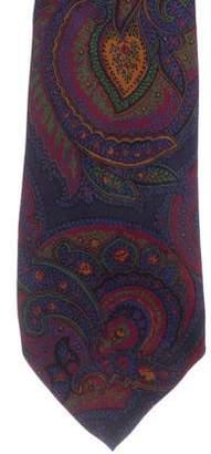 Ralph Lauren Purple Label Paisley Print Silk Tie