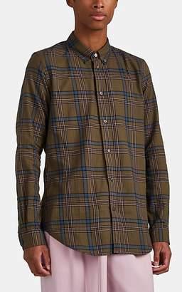 Paul Smith Men's Plaid Cotton Twill Shirt - Olive