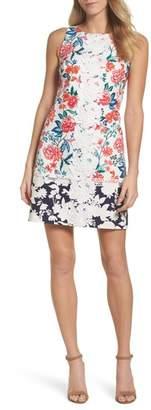 Eliza J Floral Print Shift Dress