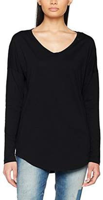 Replay Women's Longsleeve Long Sleeve Top, Black (Nearly 99), Small