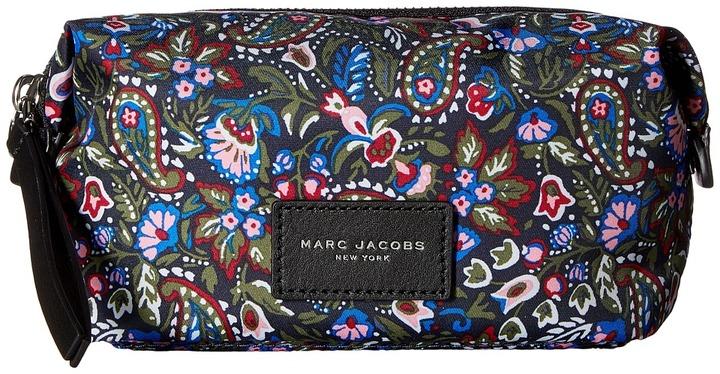 Marc JacobsMarc Jacobs - Garden Paisley Printed Biker Cosmetics Landscape Pouch Travel Pouch