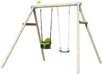 TP Knightswood Flodden Wooden Swing Set