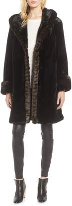 Gallery Hooded Faux Fur Walking Coat