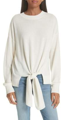 Frame Knot Front Wool & Cashmere Sweater