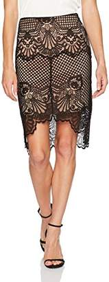 KENDALL + KYLIE Women's Scallop Lace Pencil Skirt