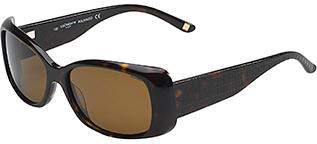 Liz Claiborne Wide Arm Rectangular Frame Sunglasses - Dark Tortoise