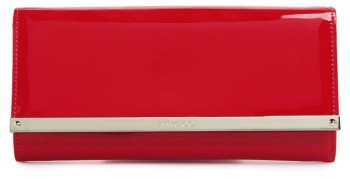 Jimmy Choo Jimmy Choo 'Milla' Patent Leather Wallet On A Chain - Red