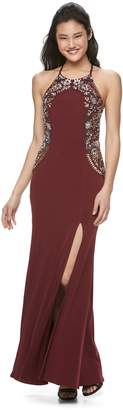 Speechless Juniors' Embellished Full-Length Dress
