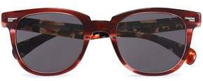 Oliver Peoples D-Frame Printed Acetate Sunglasses