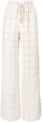 Zimmermann windowpane print wide-leg trousers