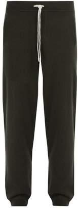 Allude Drawstring Wool Blend Track Pants - Mens - Khaki