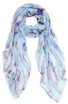 Women's Nordstrom Wildflower Spray Scarf $39 thestylecure.com