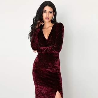 Girls On Film Burgundy Maxi Dress
