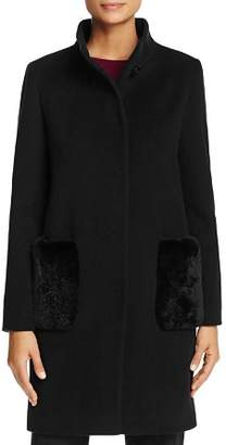 Cinzia Rocca Icons Rabbit Fur Pocket Coat