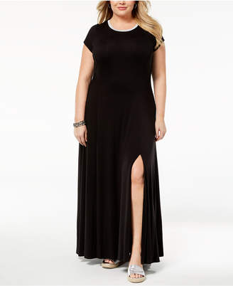 MICHAEL Michael Kors Size Cap-Sleeve Maxi Dress