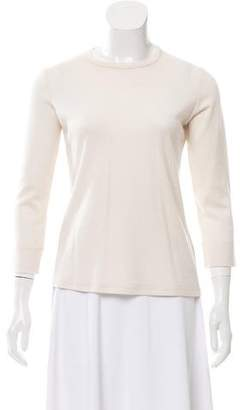 The Row Virgin Wool Long Sleeve Top