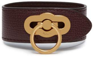Mulberry Amberley Bracelet Oxblood Cross Grain Leather