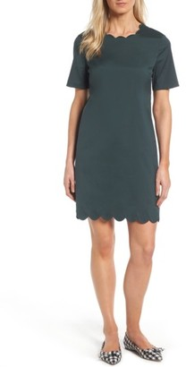 Women's Halogen Scalloped Shift Dress $99 thestylecure.com