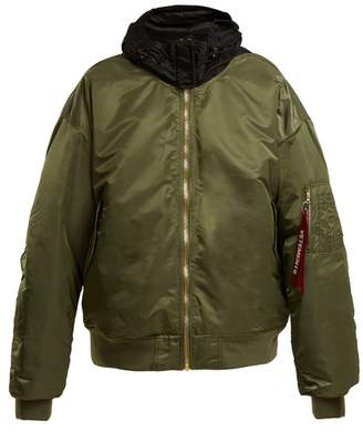 Vetements Oversized Bomber Jacket - Womens - Green