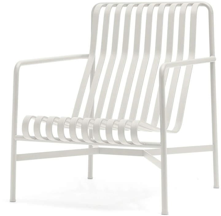 Hay - Palissade Lounge Chair High, cremeweiß
