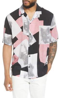 AllSaints Livinston Patterned Short Sleeve Button-Up Camp Shirt