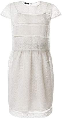 Emporio Armani sheer broderie anglaise dress