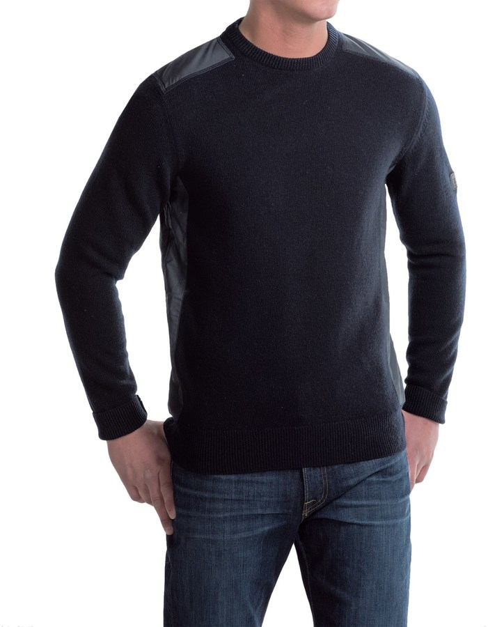 Barbour Land Rover Crook Lambswool Sweater - Crew Neck (For Men)