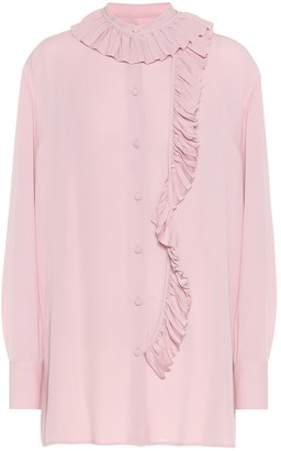 Valentino Ruffled silk-georgette shirt