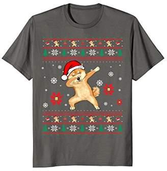 Dabbing Shiba Inu Christmas Shirt