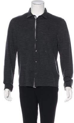 Etro Wool Knit Button-Up Shirt