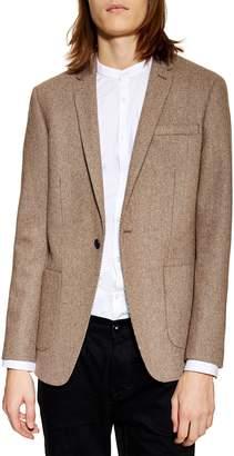 Topman Skinny Fit Wool Blend Blazer