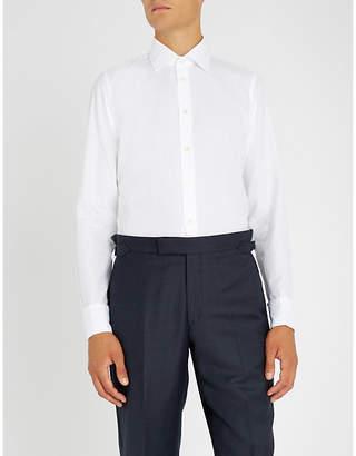 Richard James Trellis-pattern slim-fit cotton shirt