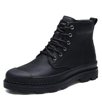 bac4f8000198 pit4tk Men s Fashion High to Help Martin Boots Retro British Style Leather  Boots Business Casual Shoes