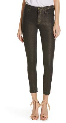 Frame Le High Metallic Ankle Skinny Jeans