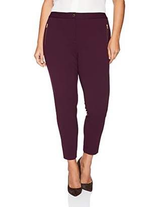 Calvin Klein Women's Plus Size Scuba Crepe Pant with Zippers