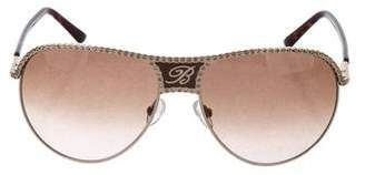 Blumarine Embellished Aviator Sunglasses