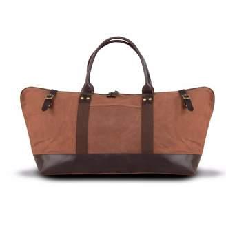 EAZO - Waxed Canvas & Leather Weekend Bag Maroon