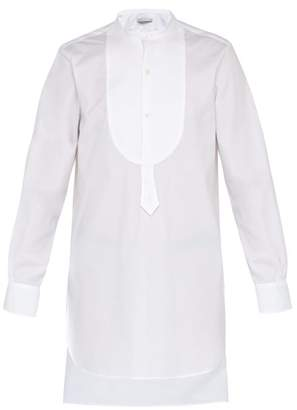 Palmer Harding Palmer//Harding Palmer//harding - Paul Grandad Collar And Bib Cotton Tunic Shirt - Mens - White