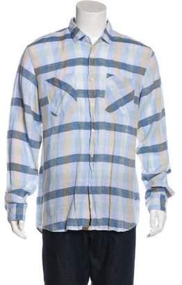 Billy Reid Linen Button-Up Shirt