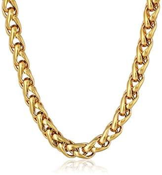SPIGA Stainless Steel 5mm Chain Plated Necklace