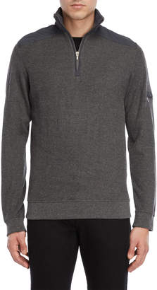 British Polo Quarter-Zip Ribbed Pullover