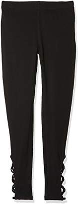 New Look Girl's Lattice Hem Leggings,(Manufacturer Size: 152-153)