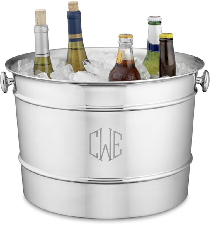 Monogrammed Stainless-Steel Beverage Bucket