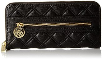 Anne Klein Dressed To Quilt Small Zip Around Wallet $40 thestylecure.com