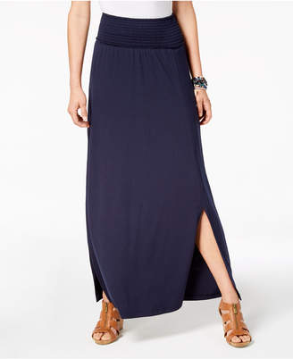 Style&Co. Style & Co Smocked-Comfort-Waist Maxi Skirt, Created for Macy's