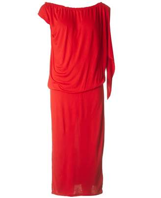 French Connection Tanna Jersey One Shoulder Dress Colour: RED, Size: 1