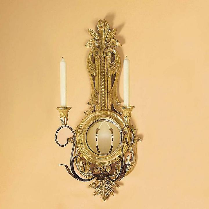 Gilt Candle Sconce